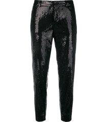 dsquared2 emmalynn hockney sequinned trousers - black