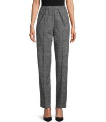 rag & bone women's rylie plaid track pants - grey plaid - size l