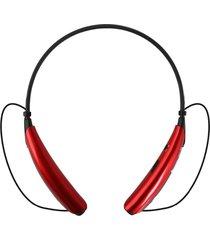 audífonos inalámbricos, auriculares audifonos bluetooth manos libres  estéreo universal con micrófono inalámbricos estilo cuello para el teléfono móvil (rojo)