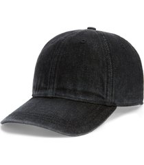 women's madewell faded denim baseball cap - black