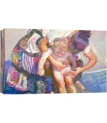 ptm images, beach bather decorative canvas wall art