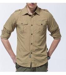 maglietta estraibile per esterni da uomo camicia a rapido essiccamento casual camicie casuali a prova di uv