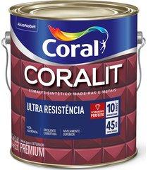 tinta coral esmalte coralit, alto brilho, areia, galão 3,6 litros