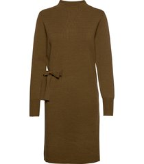 bernice knit dress jurk knielengte groen minus