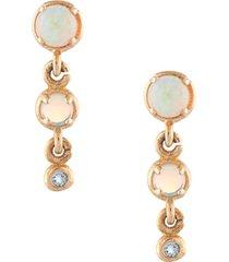sarah & sebastian 10kt gold draped earrings