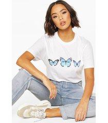 butterfly print t-shirt, white