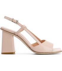 paul warmer slingback open toe sandals - neutrals