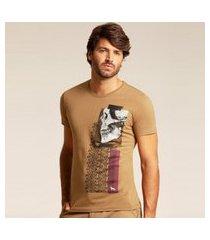 camiseta acostamento casual marrom