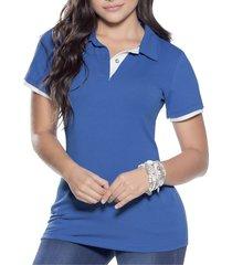 camiseta adulto femenino azul rey marketing personal 37641
