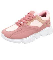 tênis dad sneaker chunky selten rosa bebe