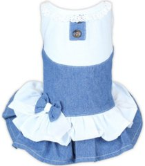 parisian pet denim spring dog dress
