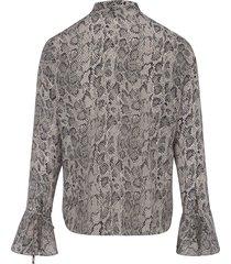 blouse van 100% zijde van uta raasch multicolour