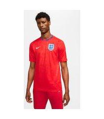 camisa nike inglaterra pré jogo 2020/21 masculina