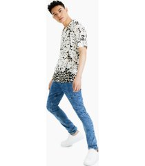 inc international concepts men's rob leopard floral shirt, created for macy's