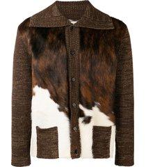 saint laurent 'cowboy' light jacket - brown