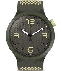 reloj análogo gris swatch