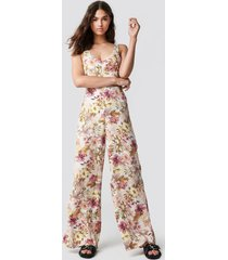 mango one-piece nature jumpsuit - multicolor