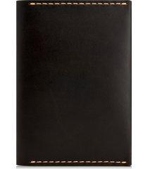 men's ezra arthur leather passport wallet - black