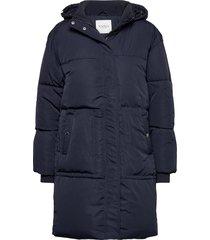 kira over d padded coat gevoerde lange jas blauw sparkz copenhagen