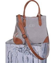 bolso gris algodon colombian bags sophia satchel