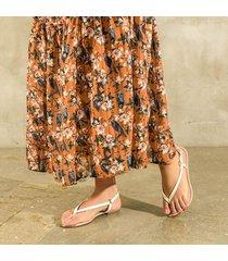 sandalia trespuntada blanca para mujer lym