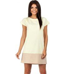 sukienka mini dwukolorowa