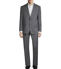 slim-fit pinstripe wool suit