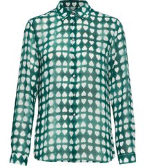 karolina dyed heart overhemd met lange mouwen groen whyred
