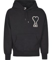 ami alexandre mattiussi logo patched hoodie
