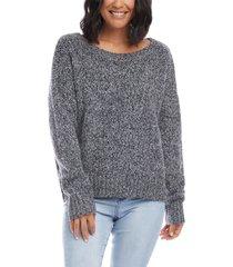 women's karen kane scoop neck sweater, size large - grey