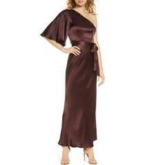 women's shona joy one-shoulder satin gown