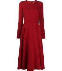 dolce & gabbana longuette godet dress - red