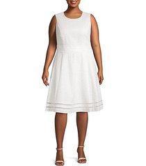 eyelet cotton a-line dress