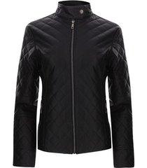 chaqueta mujer rombos color negro, talla xl