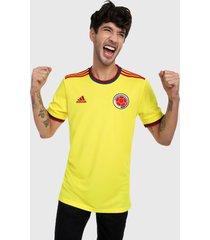 camiseta amarillo-azul-rojo adidas performance selección colombia fcf -byello jauvif jerseys maillot