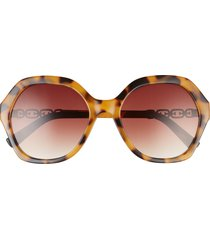 sam edelman 59mm gradient cat eye sunglasses in tortoise/gradient brown at nordstrom