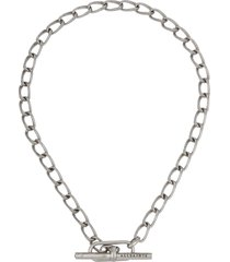 allsaints toggle chain collar necklace in warm silver at nordstrom