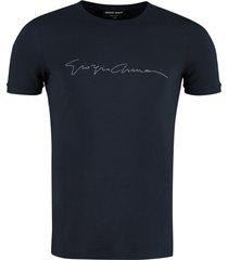 giorgio armani viscose crew-neck t-shirt