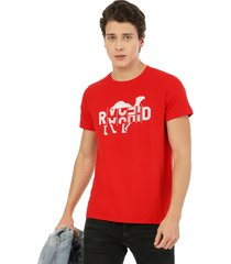 camiseta de hombre roja rachid camel