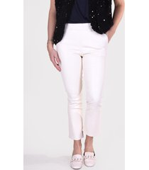 suite 22 broek hudson cropped flare off white