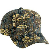 otto camouflage cotton blend twill six panel pro style baseball cap (color-dk.gr