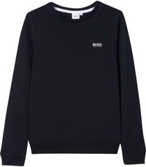 hugo boss marine sweatshirt with logo