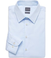 armani collezioni men's modern-fit dress shirt - fancy azure - size 15 38