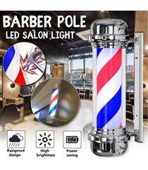 salon nos enchufe de 110v grande de pelo de luz led de poste del peluquero azul blanco rojo de rayas giratoria 70x23cm sesión - regulaciones de estados unidos (110v)