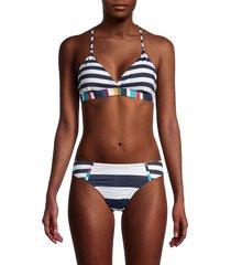 sperry women's striped bikini top - size xl
