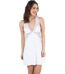 camisola noite renda branco | 533.071