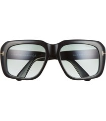 tom ford bailey 57mm square sunglasses in shiny black /gradient green at nordstrom