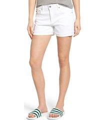women's ag 'hailey' boyfriend shorts, size 23 - white