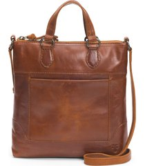 frye melissa small leather tote - brown