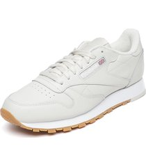 zapatilla cl leather mu crudo reebok